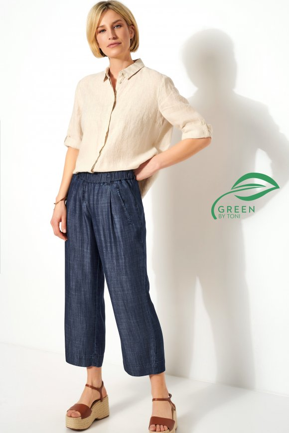 Hose »Pia Wide Leg 3/4« dark blue